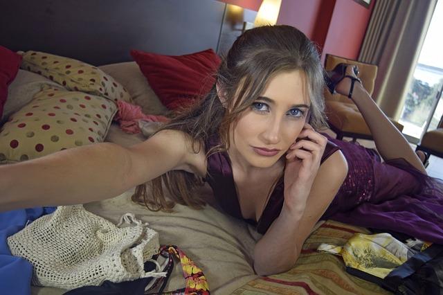 selfie v posteli