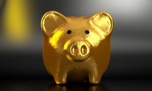 zlaté prasátko – pokladnička